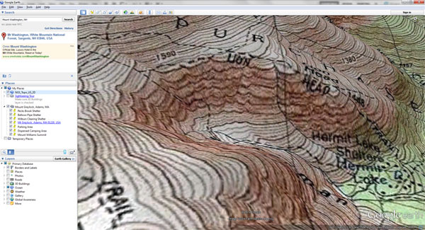 USGS Topographic Map Overlay Google Earth Library USGS - Elevation map google earth